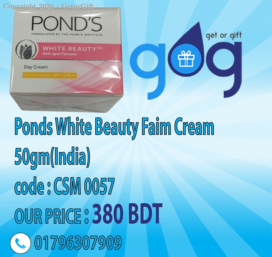 Ponds White Beauty Faim Cream 50gm(India)
